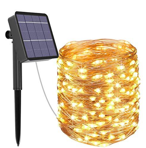 Guirnalda Luces Exterior Solar, Kolpop Cadena de Luces 26 Metros 240 LED, 8 Modos de Luz,...