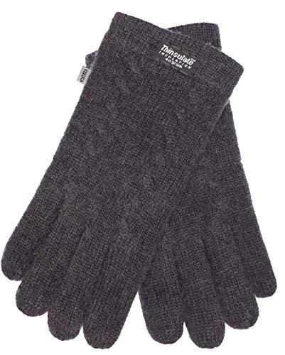 EEM guantes de punto para mujer EEM FREYA con forro Thinsulate y patrón de ochos de 100% lana;...