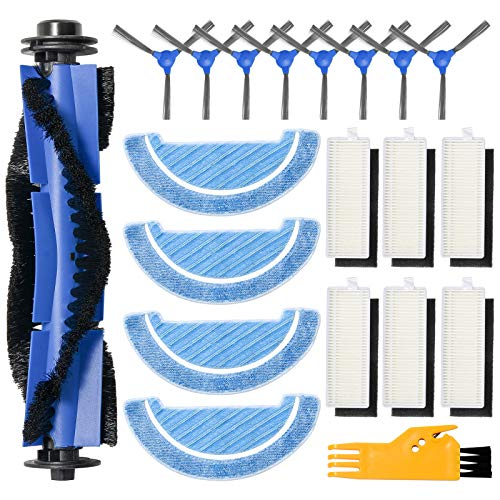 ZITFRI 20PCS Kit de Recambios para Cecotec Conga 1090 Robot Aspirador Repuestos de 6 Filtros HEPA 8...