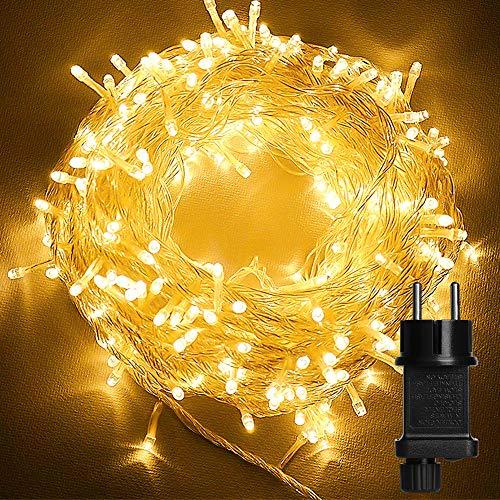 Luces de Hadas, 23M 200 LED Cadena de Luces con Enchufe, Guirnalda Luces IP44 Impermeable con 8...