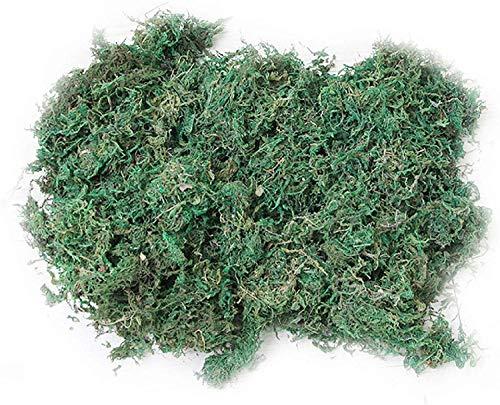 600 g Musgo Artificial, Artificial Lichen,Planta Simulada de Musgo Verde,Ideal para Decorar Plantas,...
