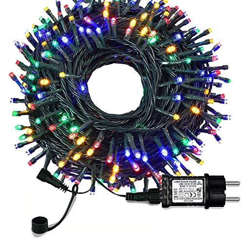 Luces árbol de Navidad (color)