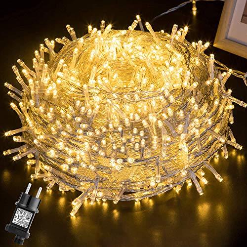 Luces Navidad Exterior 100M 500LEDs,GlobaLink Luces Arbol Navidad IP44 Impermeable,Guirnaldas Luces...